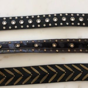 Accessories - Bundle of cool leather belts
